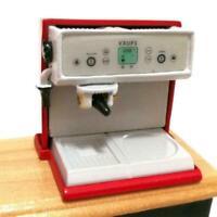 Miniature Coffee Maker Machine + Pot Cup For 1/12 Play Decoration Dollhouse D5U5