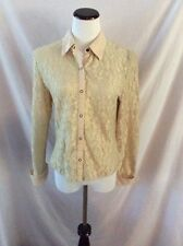 Long Sleeve Lacy Blouse from Uniform JohnPaulRichard ~ Medium ~ Tan