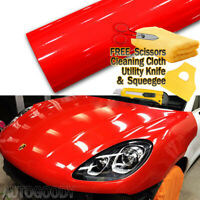 "480"" x 60"" Super Gloss Red Vinyl Film Wrap Sticker Air Bubble Free 40ft x 5ft"