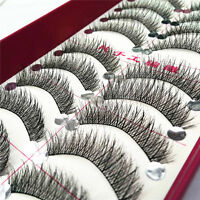 10 Pairs Makeup Long Thick Cross Beauty False Eyelashes Eye Lashes Extension 12w
