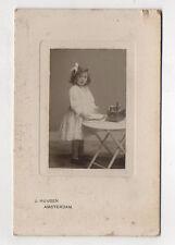 PHOTO CARTE CABINET Enfant Jouet Jeu Petite cuisine J. HUIJSEN Amsterdam 1900