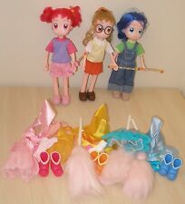 """ANIME OJAMAJO MAGICAL DOREMI GIRLS DOLL SET WITH ACCESSORIES 10.5"""" TALL DOLL SET"""