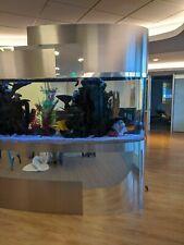Custom Made 450 Gallon Oval Shaped Aquarium Rare