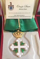 Croce da Commendatore Ordine dei Santi Maurizio e Lazzaro in argento 925
