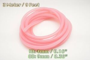 3 METERS CLEAR PINK SILICONE VACUUM HOSE ENGINE BAY DRESS UP 4MM FIT MMC