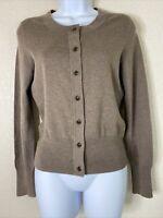 Banana Republic Womens Size S Brown Silk Cotton Cashmere Button Up Cardigan