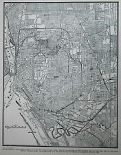 Vintage 1940 World War II Atlas City Map Buffalo, NY, New York WWII Railroads!
