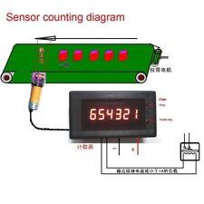 12v 24 LED Digital Display Zähler Electronic Counter alarm Control output