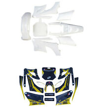 Motorcycle White Plastics Fender Stickers Kit for Apollo/Orion Dirt/Pit Bike