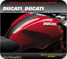 2 adesivi compatibile per ducati monster 796 decals stickers ducati monster