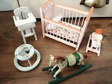 Casa De Muñecas Muebles Guardería Paquete