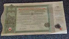 5 Gulden, 5 Forint, premium bond, Red Cross Austria, Hungary Budapest, Wien 1882