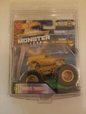 Hot Wheels Monster Jam Golden Machines Grave Digger Monster Truck Chase Treasure