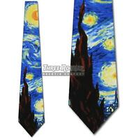 Starry Night Ties Van Gogh Necktie Mens Art Neck Tie Brand New