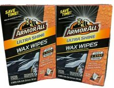 24 Count Armor All Ultra Shine Xl Wax Wipes Fast 1 Step Car Waxing New