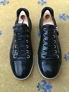 Louis Vuitton Mens Shoes Black Trainers Sneaker Low Top UK 9 US 10 EU 43 Damier