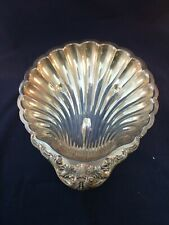 """Vintage Ornate Shell Shaped F.B. Rogers 1830 Silver Plate Huge Serving Bowl 16"""""""