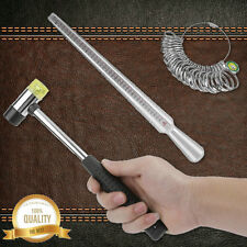 STEEL RING MANDREL RUBBER MALLET JEWELRY MAKING SET SIZING FORMING TOOLS TOOL HL