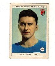 figurina LAVAZZA ANNO 1950/51 CALCIO NUMERO 223 COMO ALCEO LIPIZER NEW