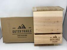 Outer Trails Bat House Outdoor Bat Habitat, Natural Cedar Wood, 2 Chamber - New