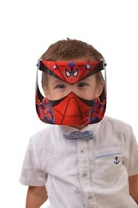 CHILD MASK SAFETY FULL FACE SHIELD CLEAR FLIP-UP VISOR TRANSPARENT MEDICAL MASK