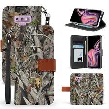 For Galaxy Note 9 SM-N960 Pouch Flip Folio Wallet Kickstand Case Hunter Camo