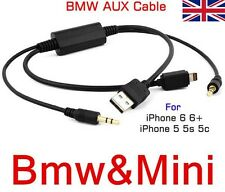 Y CABLE For BMW MINI USB AUX IN Interface AUDIO ADAPTER Ipod iPhone 5 5S 6S PLUS