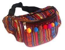 MULTI AZTEC TRIBAL POM POM CUSTOMISED BUM BAG SHOPPING TRAVEL HOLIDAY FANNY PACK