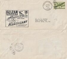US 1946 NORTH EAST AIRLINES AM 27 FIRST FLIGHT COVER NANTUCKET TO BOSTON