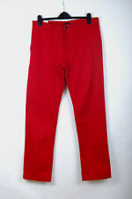 P557/12 Gap Chino  Natural Cotton Fibre Red Casual Trousers, W34 L34