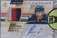 Oliver Bjorkstrand 2019-20 SP Authentic Limited Auto Materials 012/100 Jackets