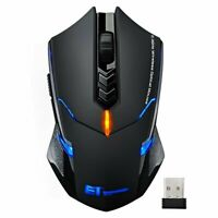 2400DPI LED Backlit 7Button Laptop PC Gamer Mice Ergonomic Wireless Gaming Mouse