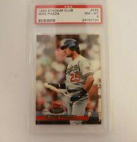 Mike Piazza 1993 Stadium Club PSA 8 Los Angeles Dodgers Mets #585