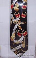 Tambores Y Corbata Seda Vintage instrumentos