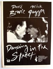 David Bowie Mick Jagger 1985 original Advert Dancing In The Street live aid