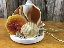 Fun vintage seashell lamp