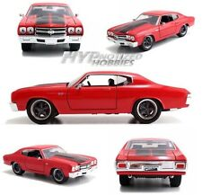 JADA 1:24 FAST AND FURIOUS  DOM'S CHEVY CHEVELLE SS DIE-CAST RED 97193