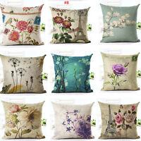 Floral Throw Cushion Cover Home Sofa Chair Decor Big Flower Print Pillow Case