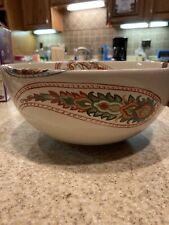 Tabletops Gallery Multi Paisley Salad/Serving Bowl