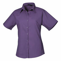 Ladies Womens Short Sleeve Blouse Shirt Business Work Top Size 6-26 Free PnP