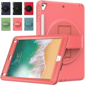 Hand Strap Rotating Stand Case Cover For iPad Mini 4 5 6th Gen 9.7 Pro Air 1 2