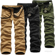 Herren Thermohose Cargo Fleecefutter Winter Hose Fleece Warm Gefüttert 3 Farben