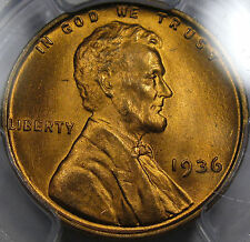 1936 Lincoln Cent Gem BU PCGS MS-65 RD... So Very Nice and Original! Fully Red!