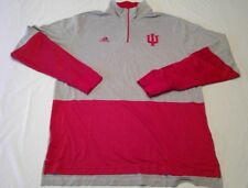 Adidas Team Indiana Hoosiers 1/4 Zip Warm Up Pullover Size XL+2 Length