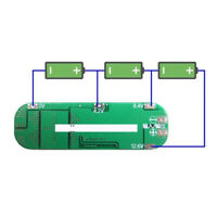 1pc 3S 3-Cell 12.6V 20A Li-ion Battery 18650 Charger Protection PCB Board CMX