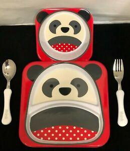 Skip Hop ZOO Little Kid & Toddler TABLEWARE MIX SET -INCLU Plate,Bowl,Fork,Spoon
