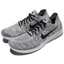 ee04a1870e7 Nike Free RN Run Flyknit 2017 Running Shoes White   Black