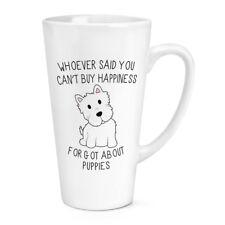 Wer Sagte Du Can'T Kaufen Happiness Welpen 483ml Groß Latte Becher Cup - Lustig
