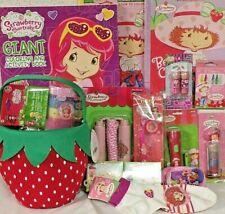 NEW KIDS strawberry shortcake EASTER TOY GIFT BASKET PLUSH PLAY SET BIRTHDAY