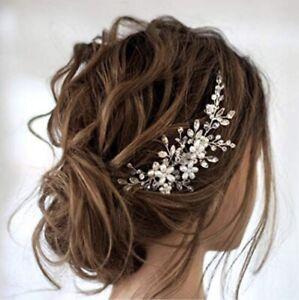 Wedding Hair Comb Silver Pearl Rhinestone Bridal Hair Accessories Bride